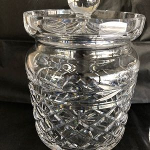 Waterford Accents - Waterford biscuit barrel and jam jar